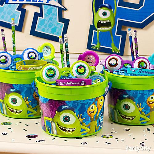 Monsters University Favor Bucket Idea