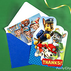 PAW Patrol Thank You Note Idea