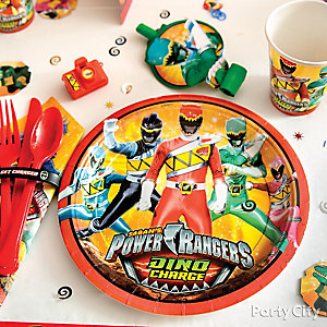 Power Rangers Place Setting Idea