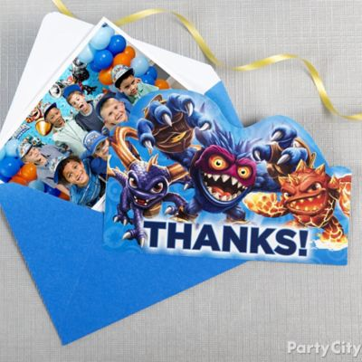 Skylanders Thank You Note Idea