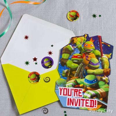Teenage Mutant Ninja Turtles Invitation with Surprise Idea Party