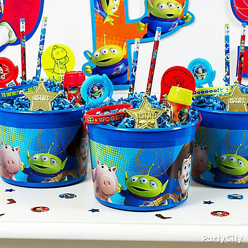 Toy Story Favor Bucket Idea