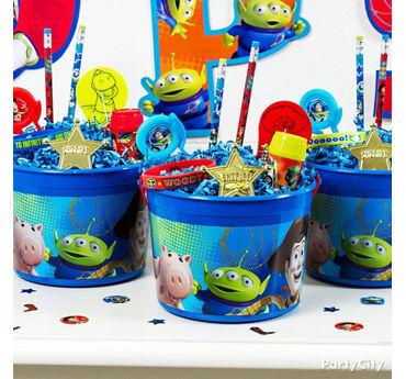 Toy Story Favor Bucket Idea