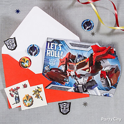 Transformers Invite with Surprise Idea