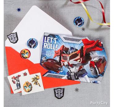Transformers Invite with Surprise Idea