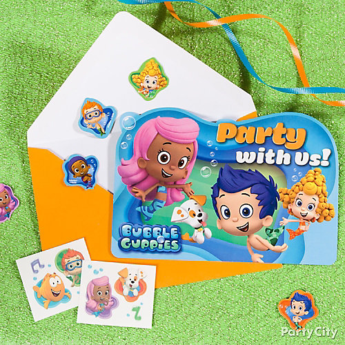 Bubble Guppies Invitations with a Surprise Idea Party City – Bubble Guppies Party Invites