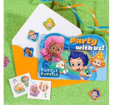 Bubble Guppies Invite with Surprise Idea