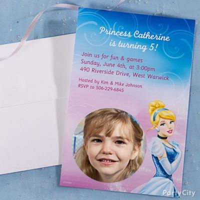 Cinderella Custom Invite Idea