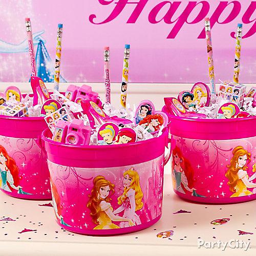 Disney Princess Favor Bucket Idea