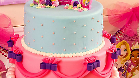 Disney Princess Fondant Cake How To
