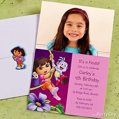 Dora Custom Invitation Idea