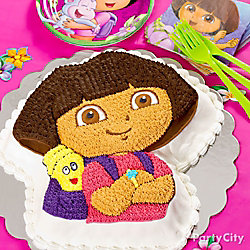 Dora Shaped Cake Idea