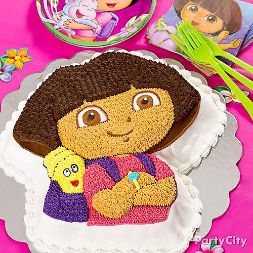 Dora Shaped Cake Idea