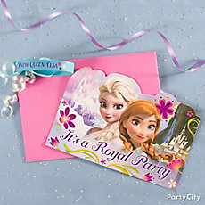 Frozen Invite with Favor Idea