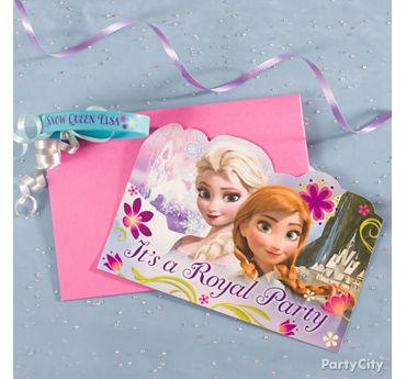 Frozen Invite with Favor Idea