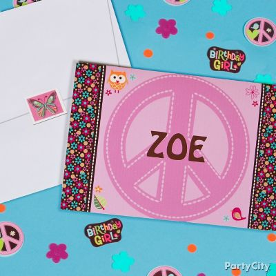 Hippie Chick Thank You Note Idea