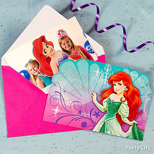 Little Mermaid Thank You Note Idea