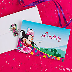 Minnie Mouse Thank You Note Idea