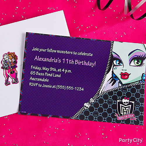 Monster High Custom Invite Idea