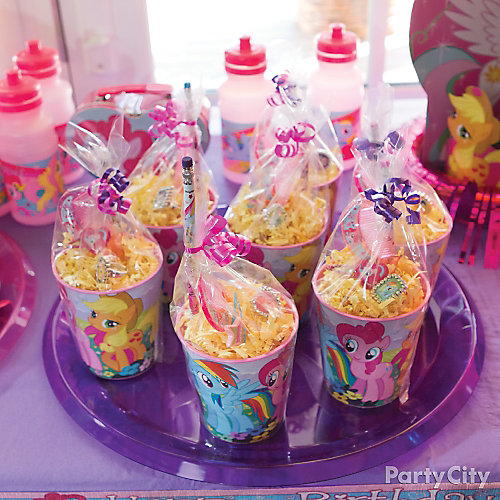 My Little Pony Favor Cup Idea