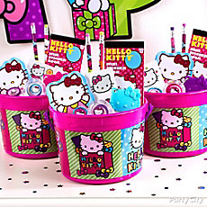 Hello Kitty Favor Bucket Idea
