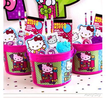 Hello Kitty Favor Bucket Idea