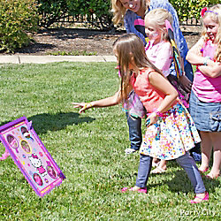 Hello Kitty Bean Bag Toss Game Idea
