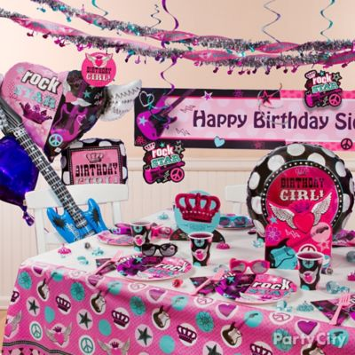 Rocker Girl Party Table Idea