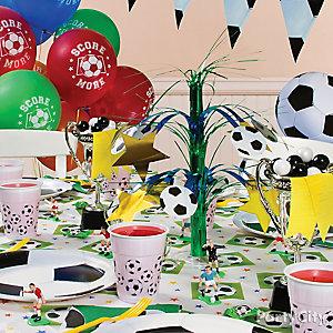 Soccer Party Table Idea