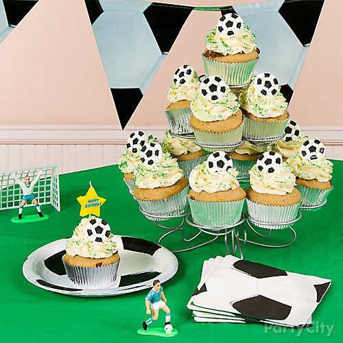 Soccer Cupcake Tower Idea