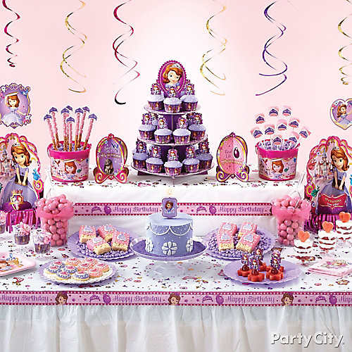 Sofia the First Treats Table Idea