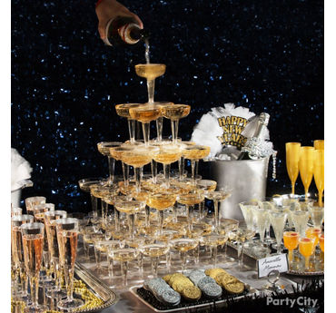 NYE Champagne Tower Table