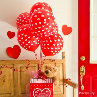 Valentine's Day Balloon Teddy Bear Gift Idea