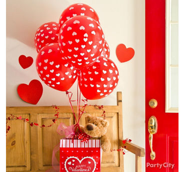 Valentines Day Balloon Teddy Bear Gift Idea