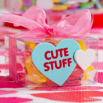 Valentine's Day Clear Gift Box Idea