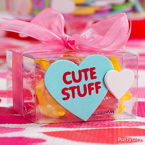 Valentine's Day Clear Gift Box Idea