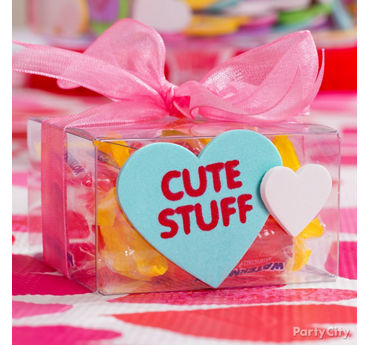 Valentines Day Clear Gift Box Idea