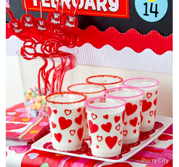 Valentines Day Sugar Rimmed Milk Cup Idea