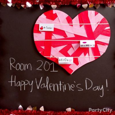 DIY Heart Ribbon Bulletin Board Idea