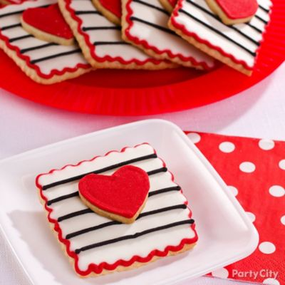 Heart Square Layered Cookies Idea