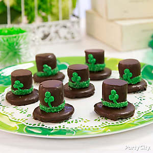 Chocolate Marshmallow Leprechaun Hats Idea