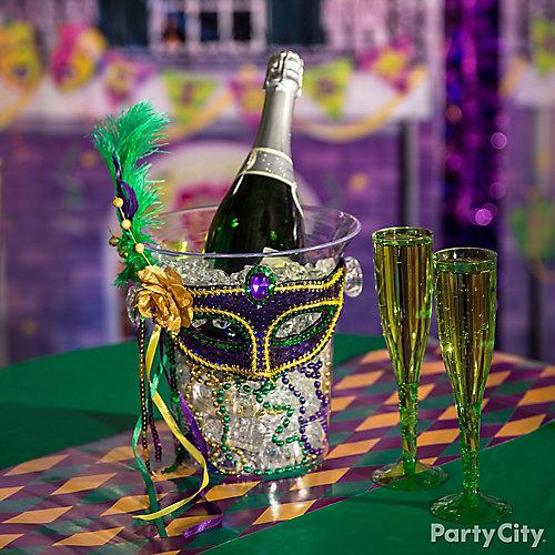 mardi gras champagne bucket idea - Mardi Gras Decorations