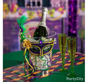 Mardi Gras Ch&agne Bucket Idea  sc 1 st  Party City & Mardi Gras Decorating Ideas - Party City | Party City