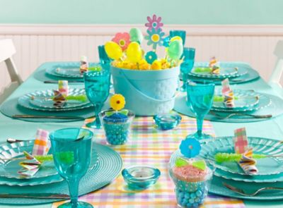 Blue Easter Tablescapes