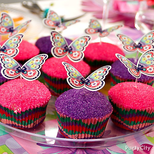 Butterfly Cupcake and Sprinkles Idea