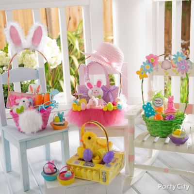 Plush Bunny And Balloon Centerpiece Idea Party City