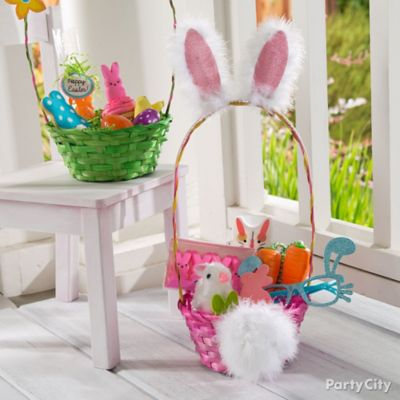 Bunny Ears and Cottontail Easter Basket Idea