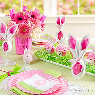 Pink & Green Easter Tablescape Idea