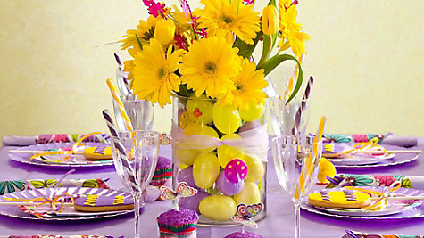 Purple Easter Tablescapes Ideas