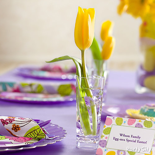 Tulips and Place Setting Cards Idea